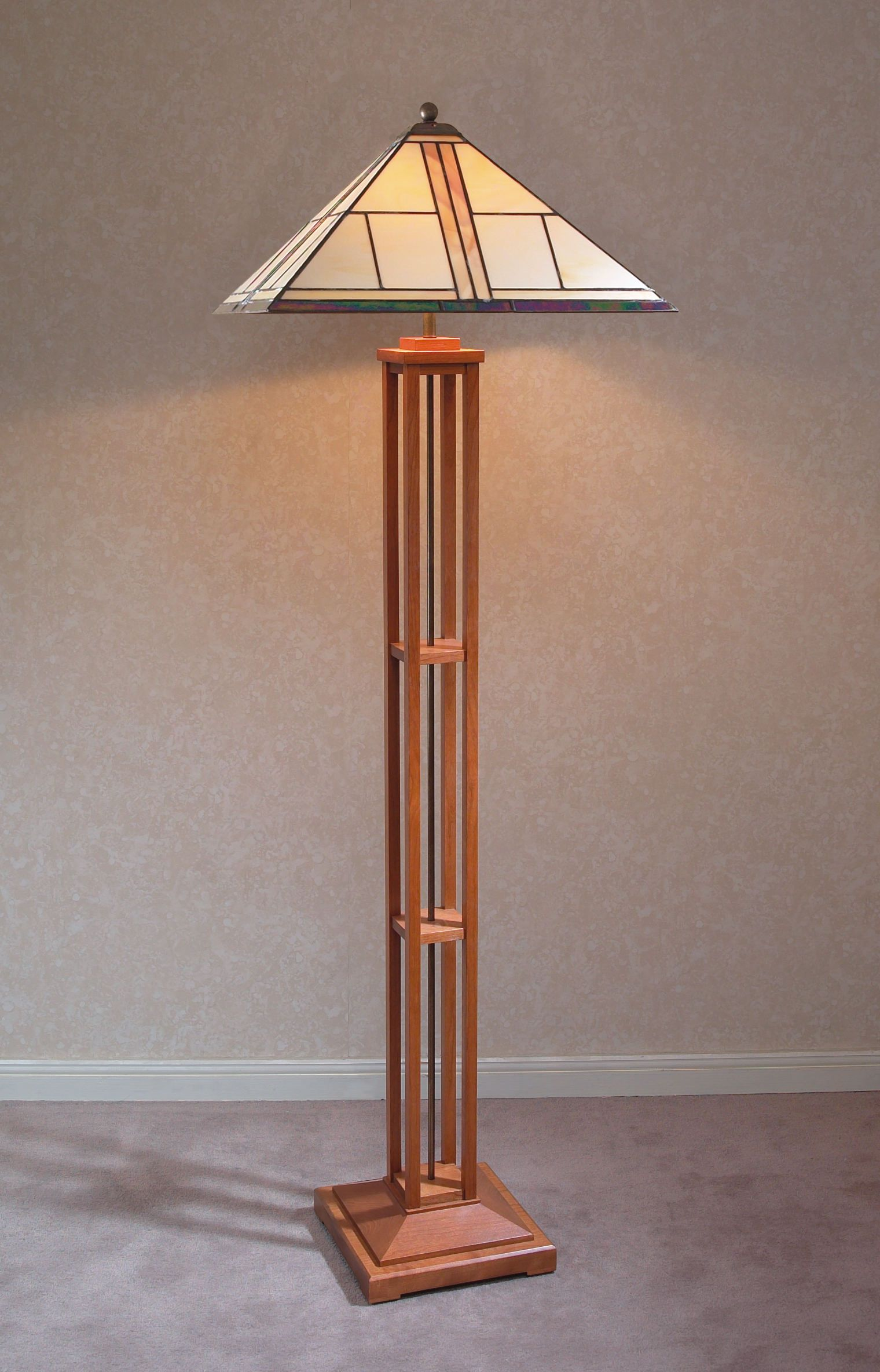 We Love This Unique Wooden Base Lamp From Stickley Furniture