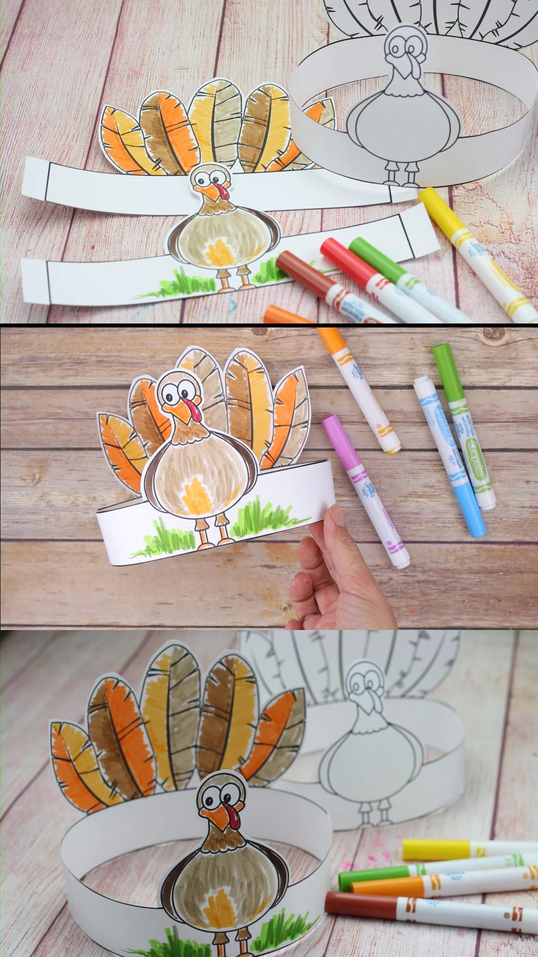 Turkey Head Band- A Thanksgiving Craft