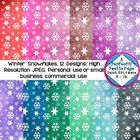 Winter snowflake ombre papers are pretty and unique.  See the preview for the subtle variations in color.  **Two bonus backgrounds not pictured in ... $2.00