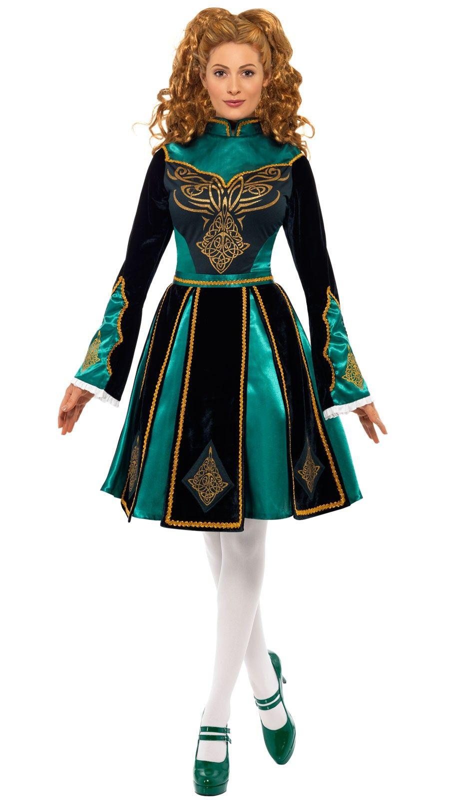 Traditional Irish Dancer Adult Costume - Large
