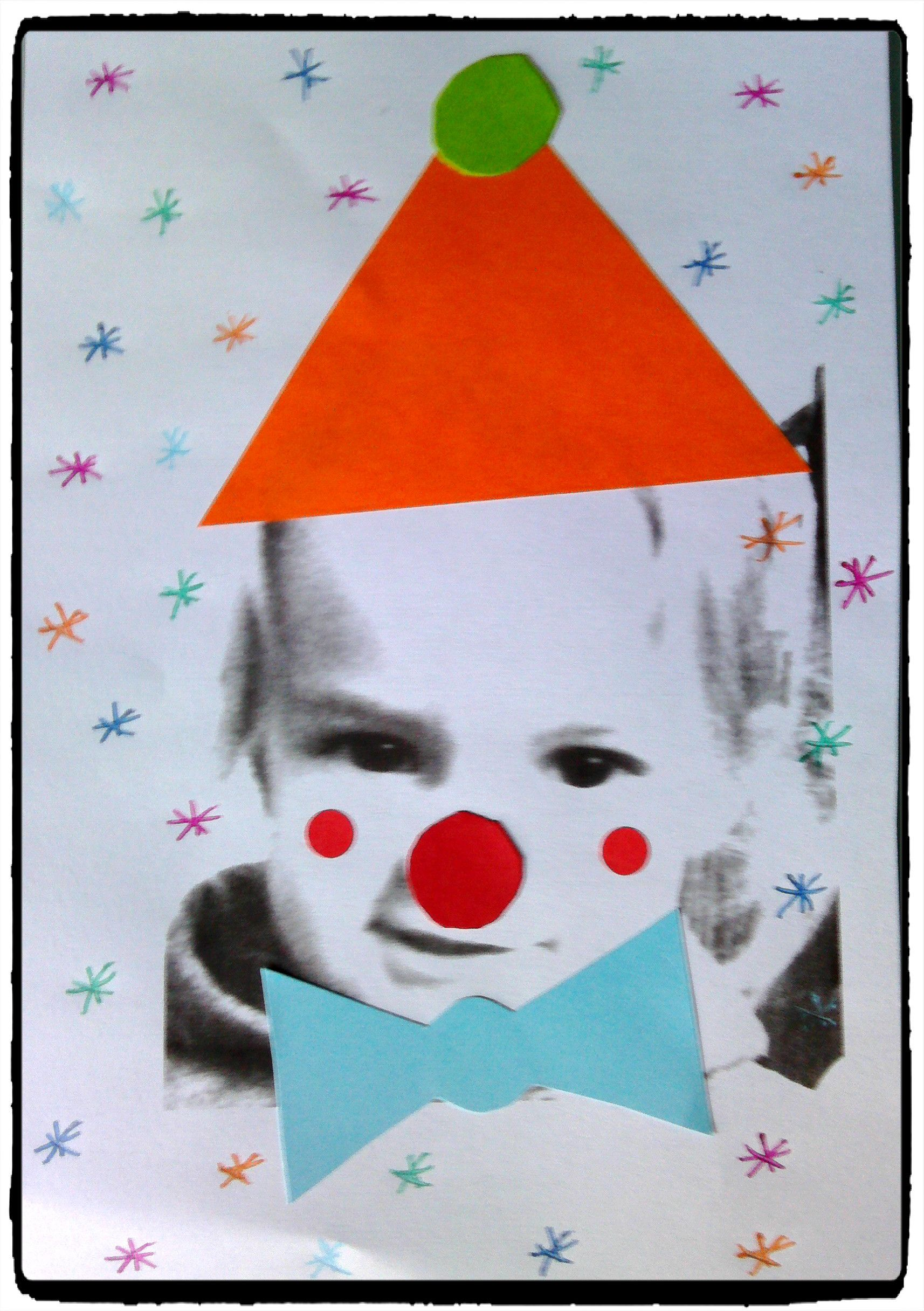 d guiser l 39 enfant en clown collage bricolage cirque et carnaval mardi gras cirque et. Black Bedroom Furniture Sets. Home Design Ideas