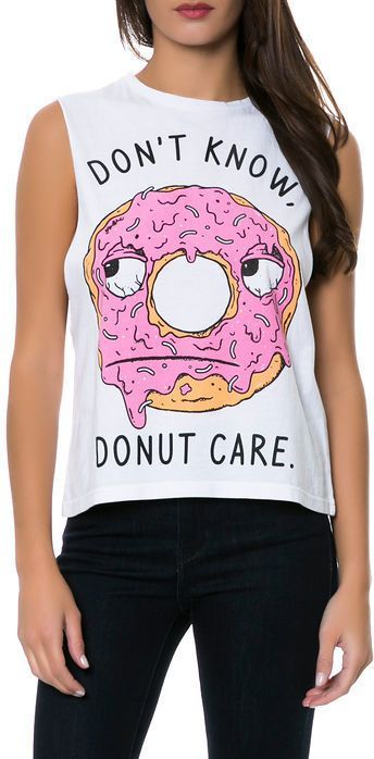 Don't Know, Donut Care tee