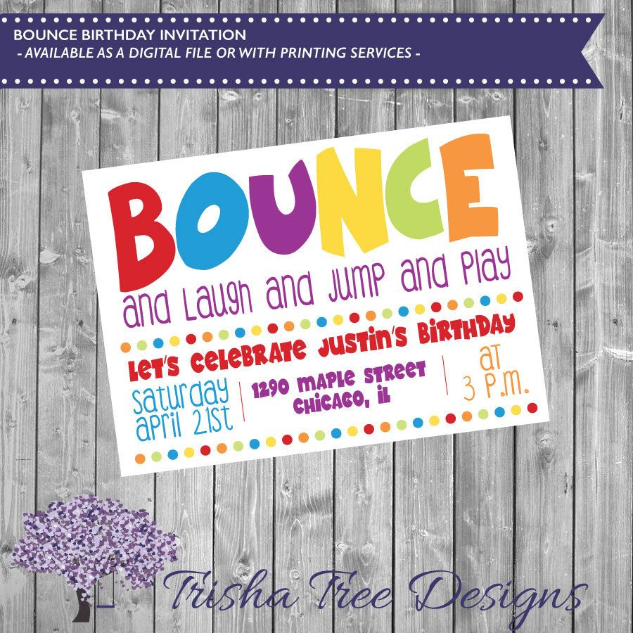 Bounce birthday invitation bouncing bday invite birthday jump bounce birthday invitation bouncing bday invite birthday jump laugh play kids birthday party child party summer stopboris Images