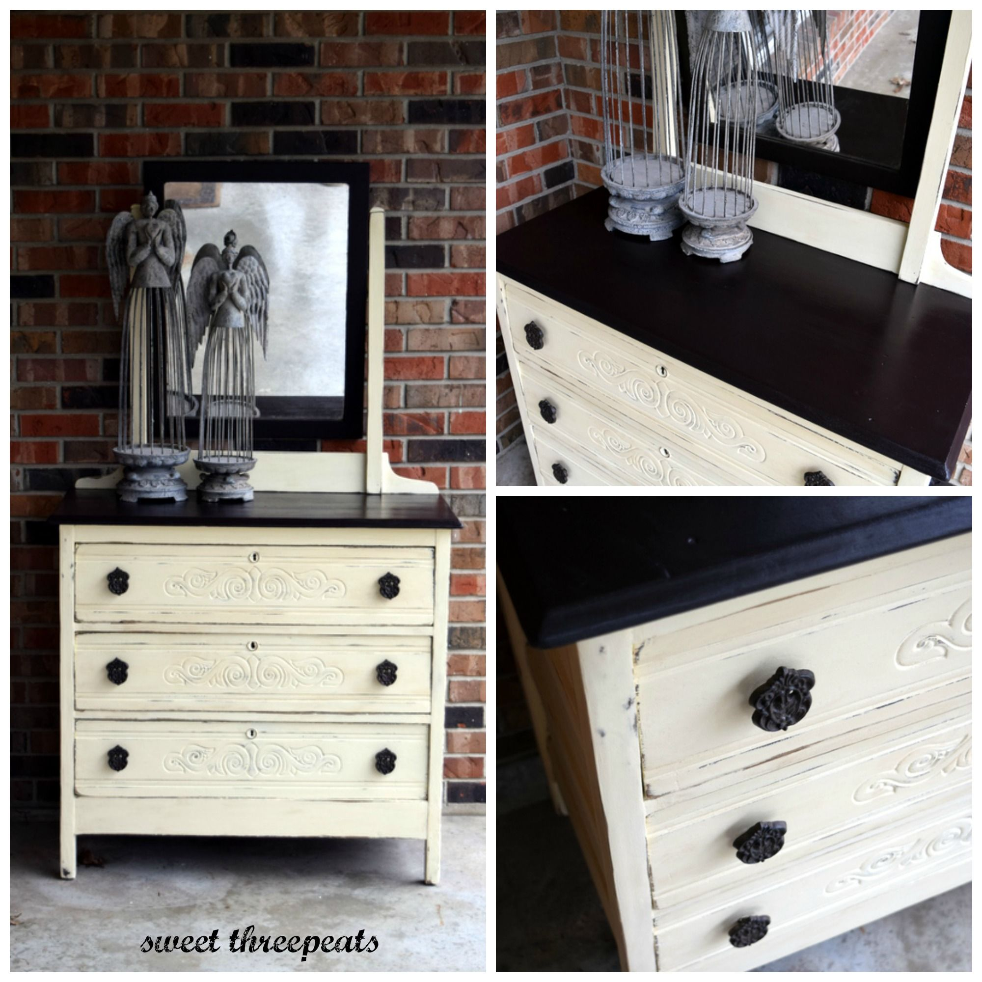 Refurbished By Sweet Threepeats Dresser Makeover In Renaissance Furniture Paint Gypsum With General Renaissance Furniture Painted Furniture Chalk Furniture
