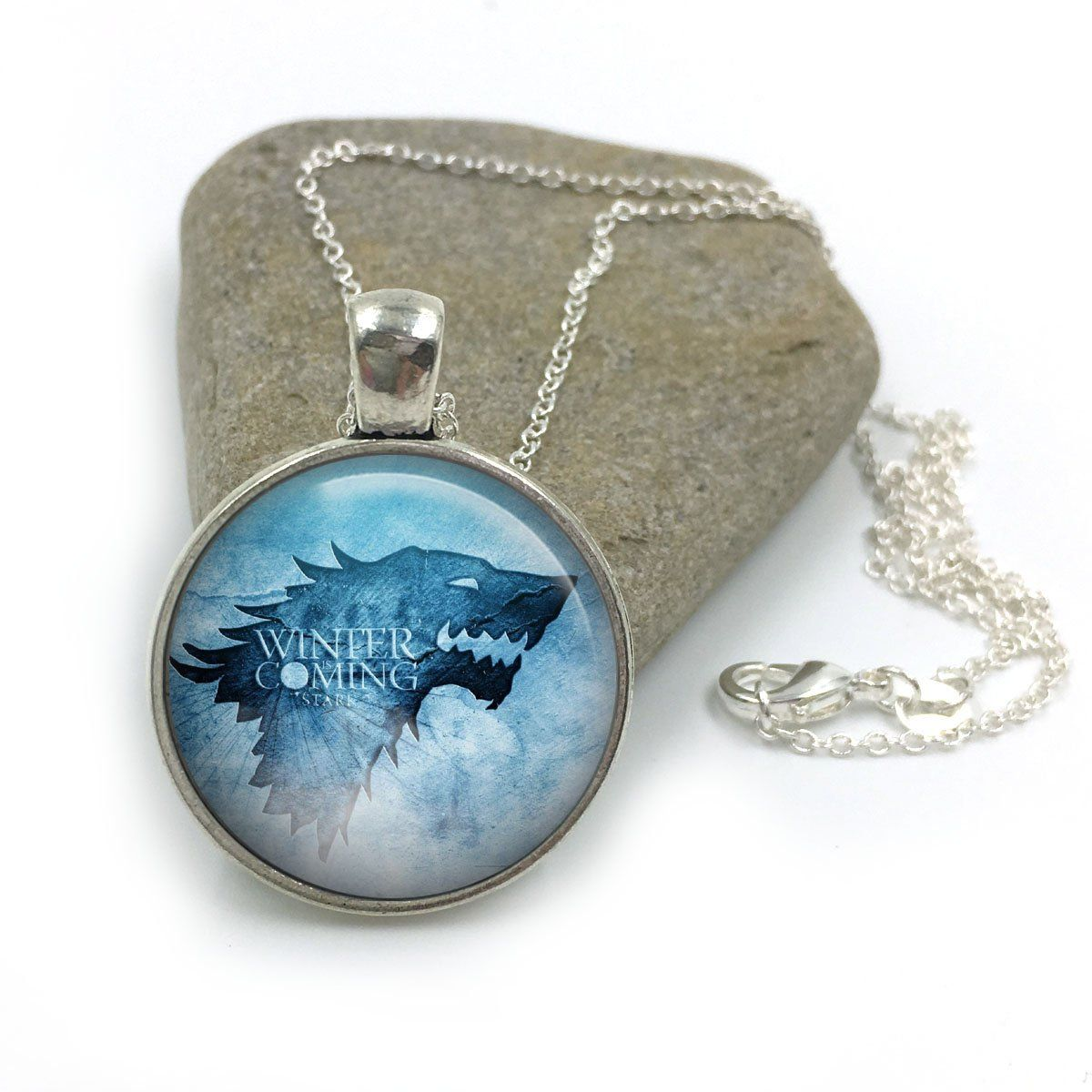 Stark Winter Is Coming Game of Thrones Glass Dome Round ...