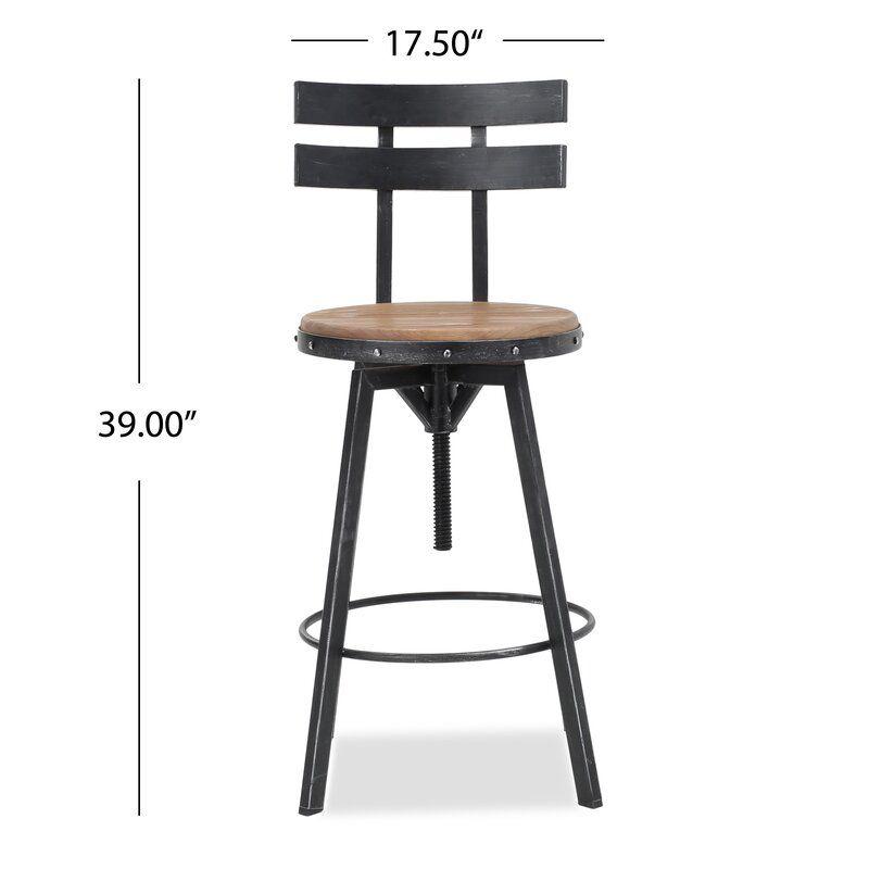 Sylvania Swivel Adjustable Height Bar Stool Bar Stools Swivel