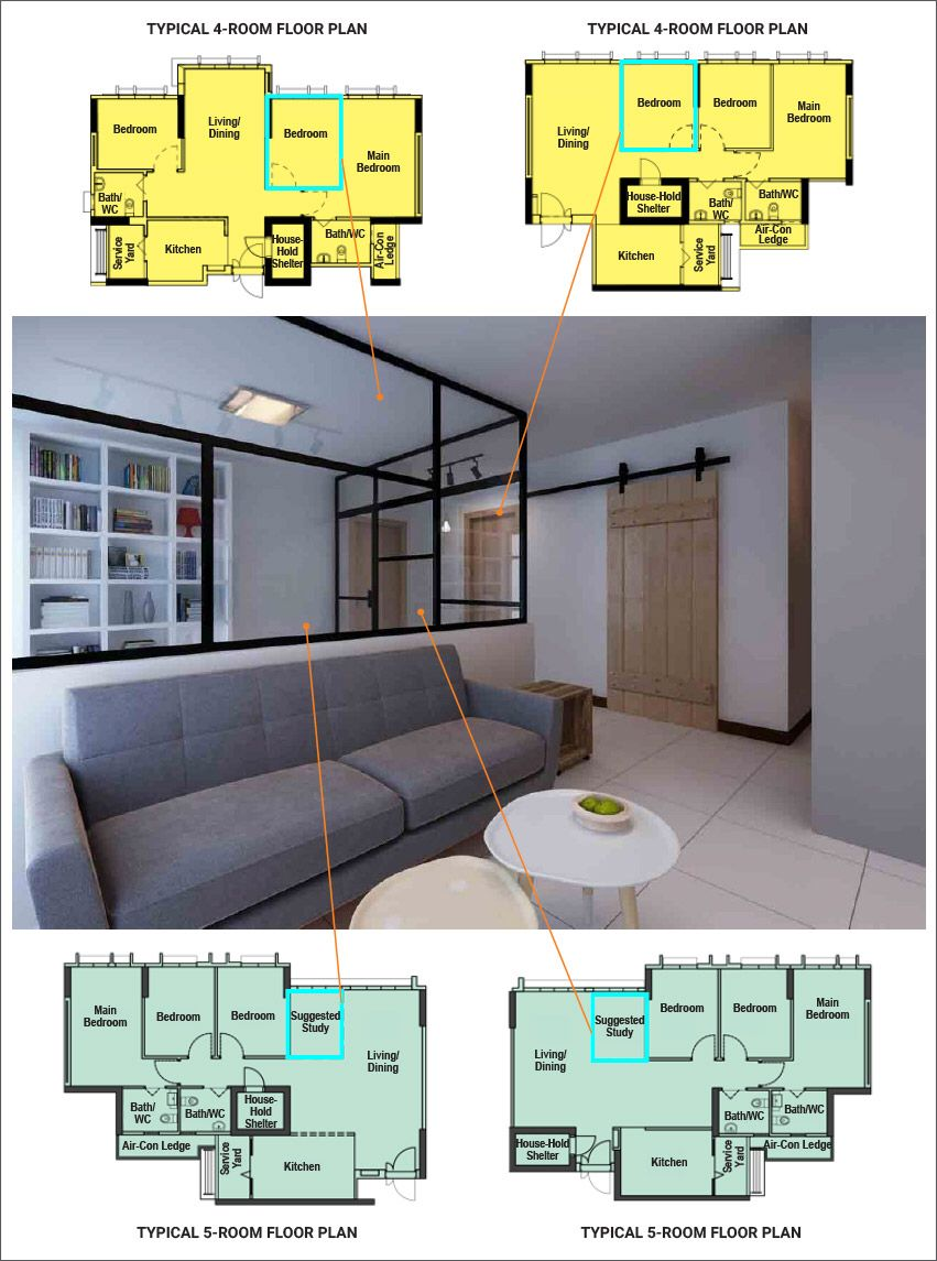 Hdb Study Room Design Ideas: Pin By June Oh On Housing Ideas