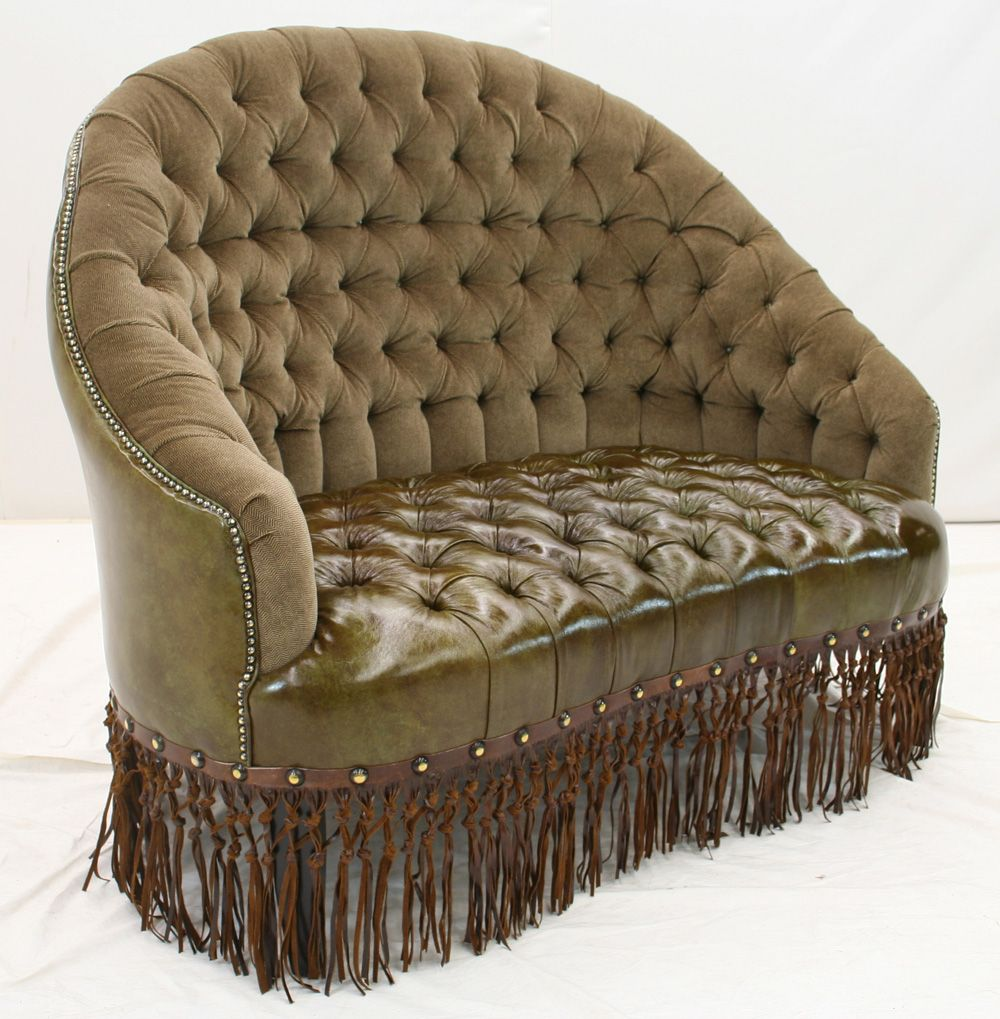 Tufted LoveSeat by Old Hickory Tannery Tufted loveseat