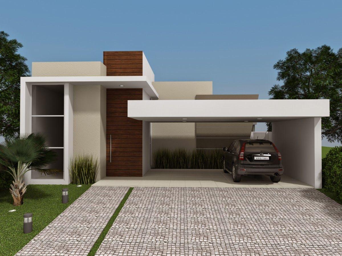Fachadas de casas t rreas veja 20 modelos modernos e for Modelos de comedores modernos