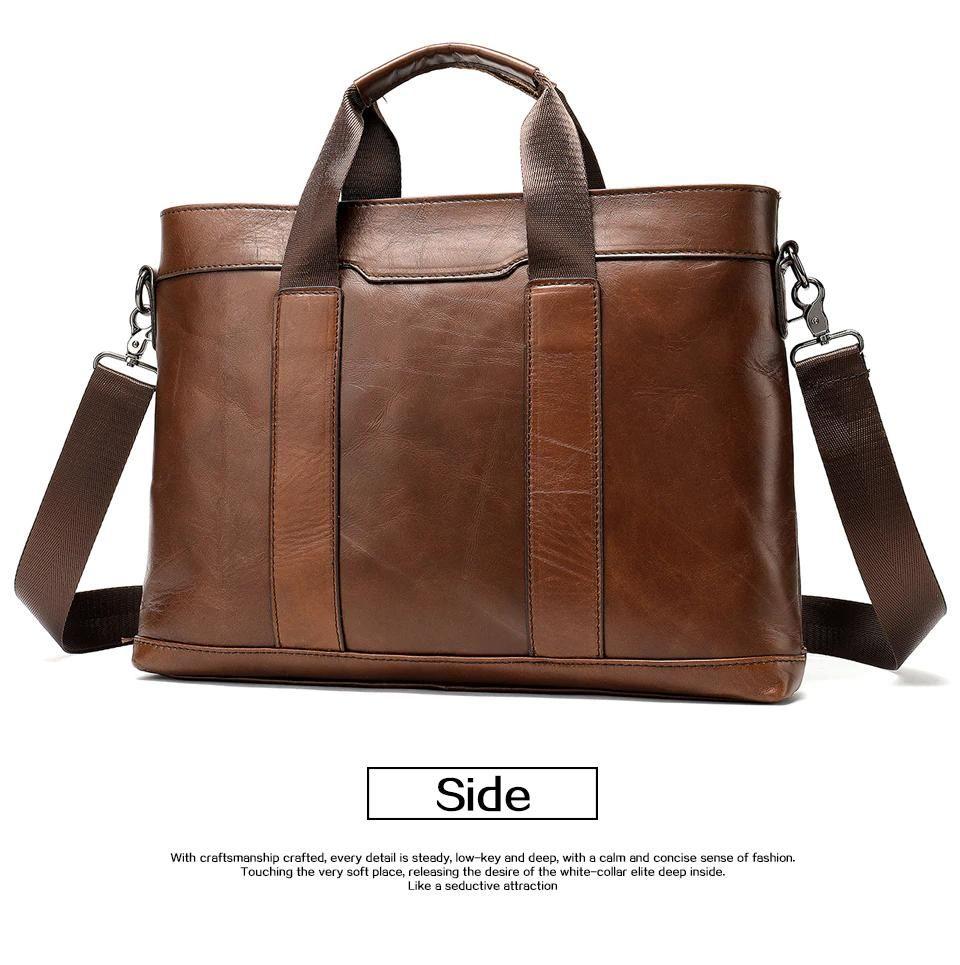 Men Shoulder Crossbody Travel Bag 100/% Genuine Cow Leather Tan