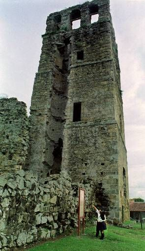 Panama Viejo Ruins.  Panamá Viejo was founded on August 15, 1519 by Spanish Conquistador Pedro Arias Davila.  On January 28, 1671 the city was destroyed by Pirate Henry Morgan when he sacked and set fire to it.