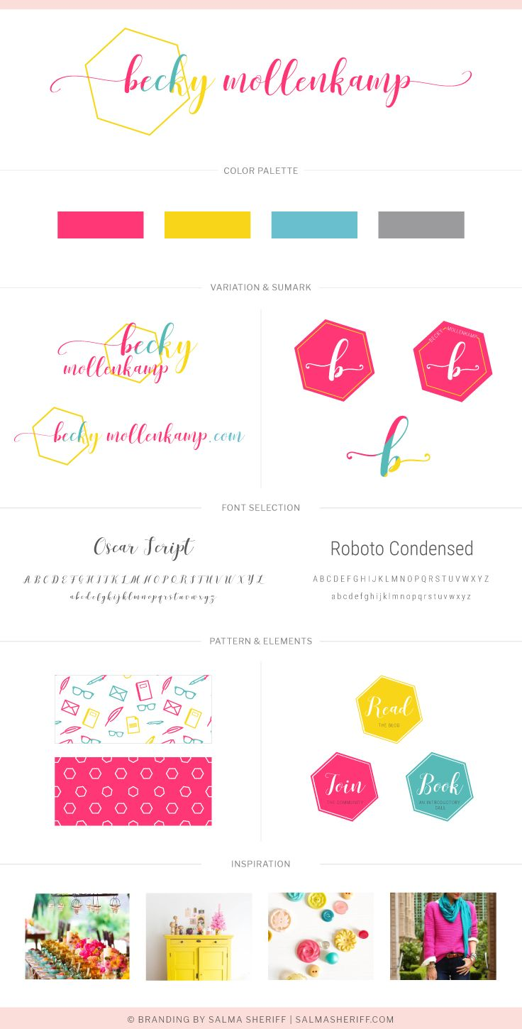 Becky mollenkamp brand board, brand style guide, Branding and Web ...