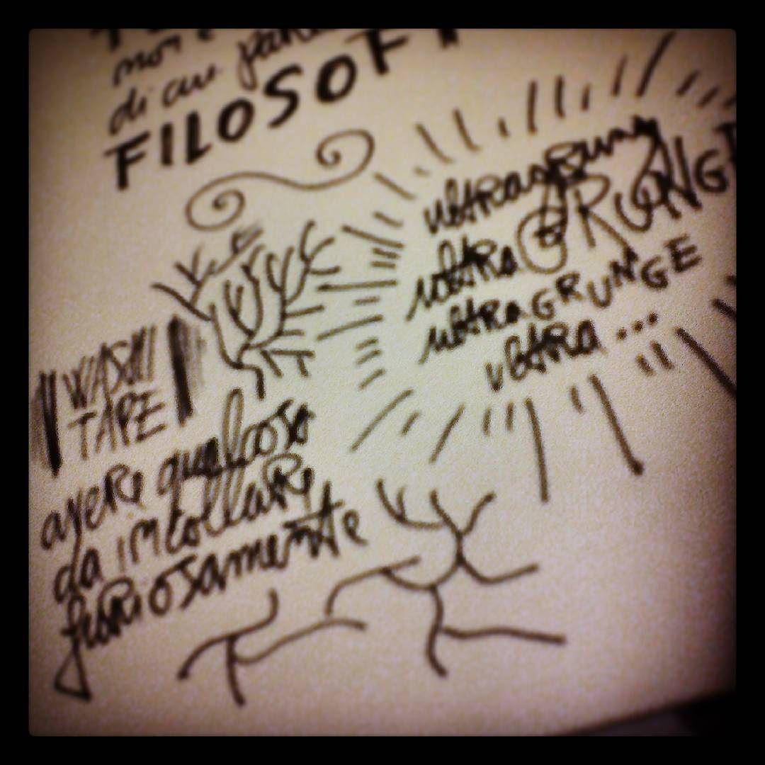 Ultra Grounge è Filosofia... #visual #notebookism #ink #writing #sketchnote #drawing