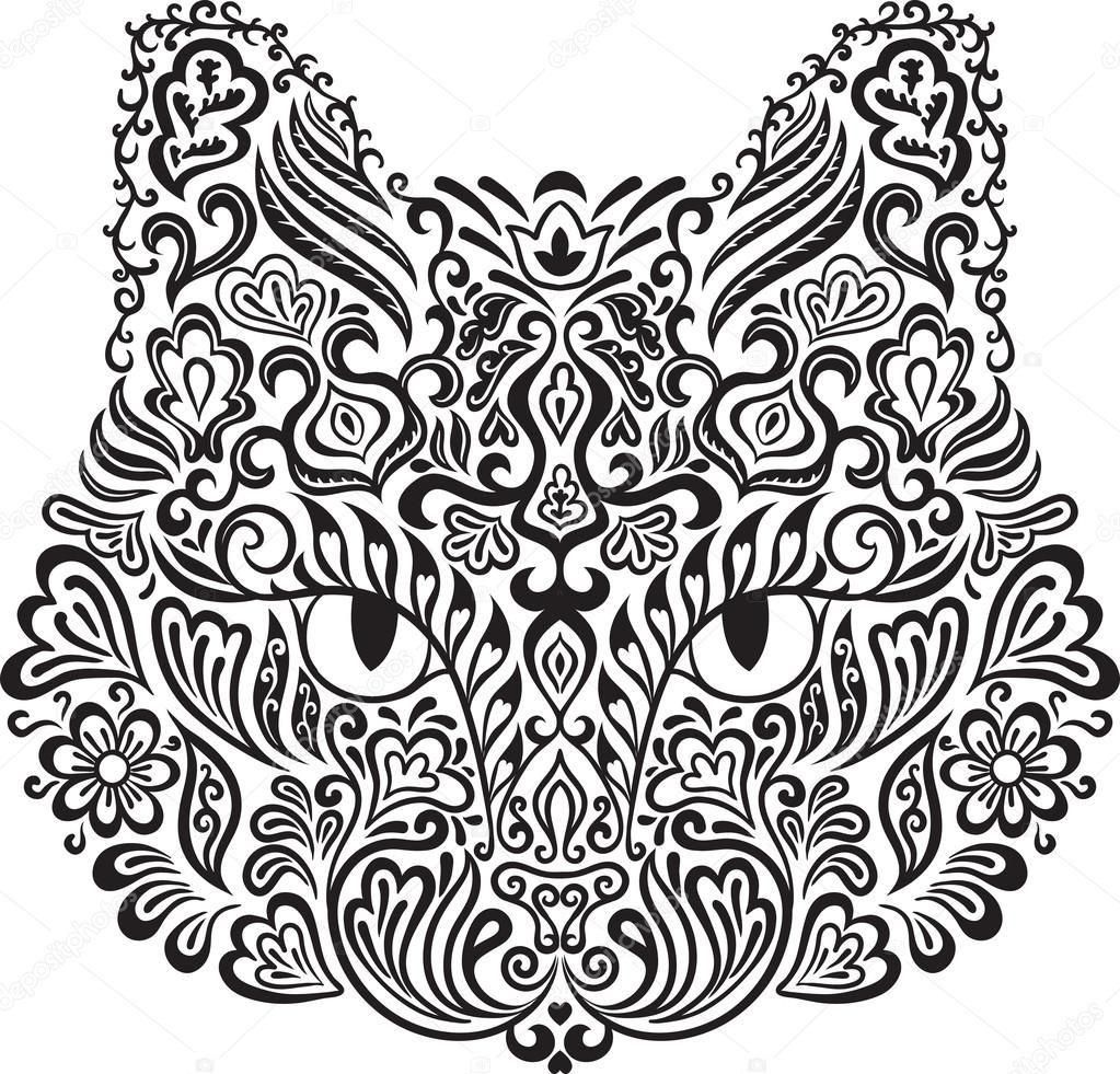 Decoratieve Kat Stockillustratie 22954448 Kattenkunst Kunst Ideeen Tatoeage Kat