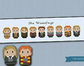 Harry Potter - The Weasleys parody - Cross stitch PDF pattern