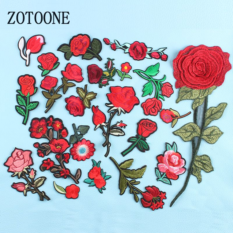 Kupowac Zotoone Naklejki Naszywki Aplikacja Haft Kwiat Dla Odziezy 1