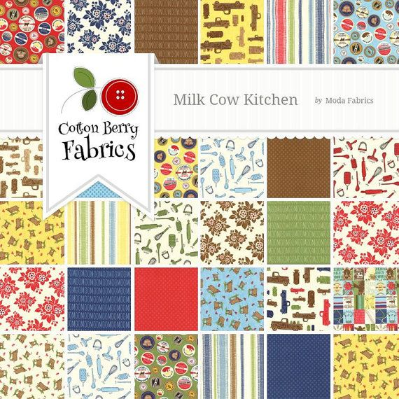 Milk Cow Kitchen MODA Layer Cake
