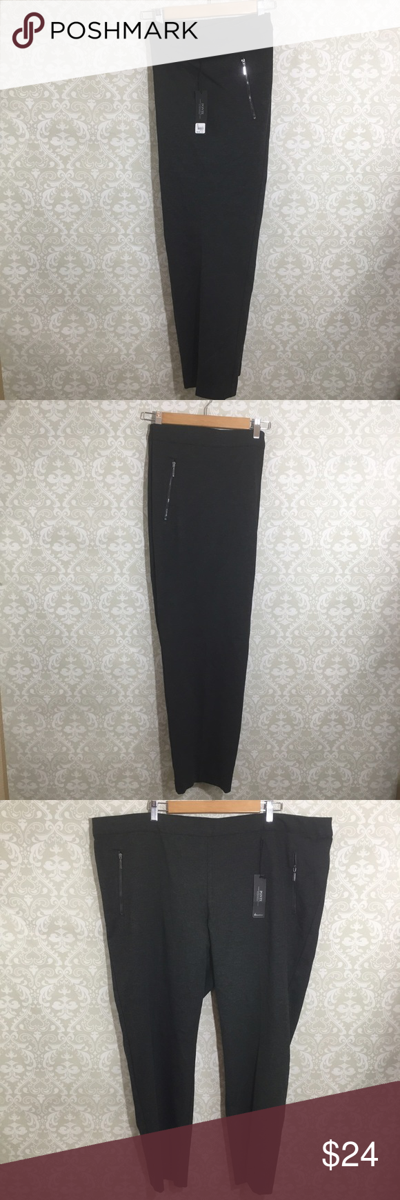 "NWT LANE BRYANT Size 26/28 Gray Cropped PONTE NWT Retail: $59.95 LANE BRYANT  ""PONTE"" Style Women Plus Size 26/28  Gray  Cropped Career Casual Work Pants Stretchy  Please use measurements to determine best fit.  All measurements are approximate and are measured laying flat.   Waist: 24"" Top to bottom: 41"" Inseam: 29"" Hip: 27.5"" Lane Bryant Pants Ankle & Cropped"
