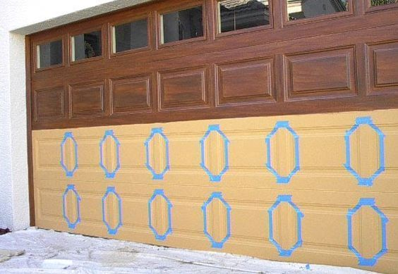 How To Paint A Garage Door To Look Like Wood And Other Works Of Art