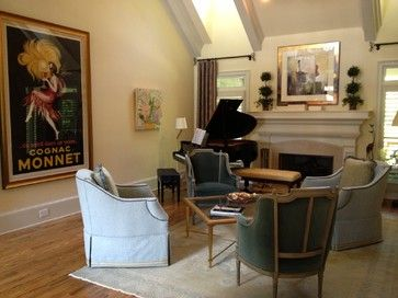Baby Grand Piano Living Room Design Ideas Pictures Remodel And Decor Decorating Ideas