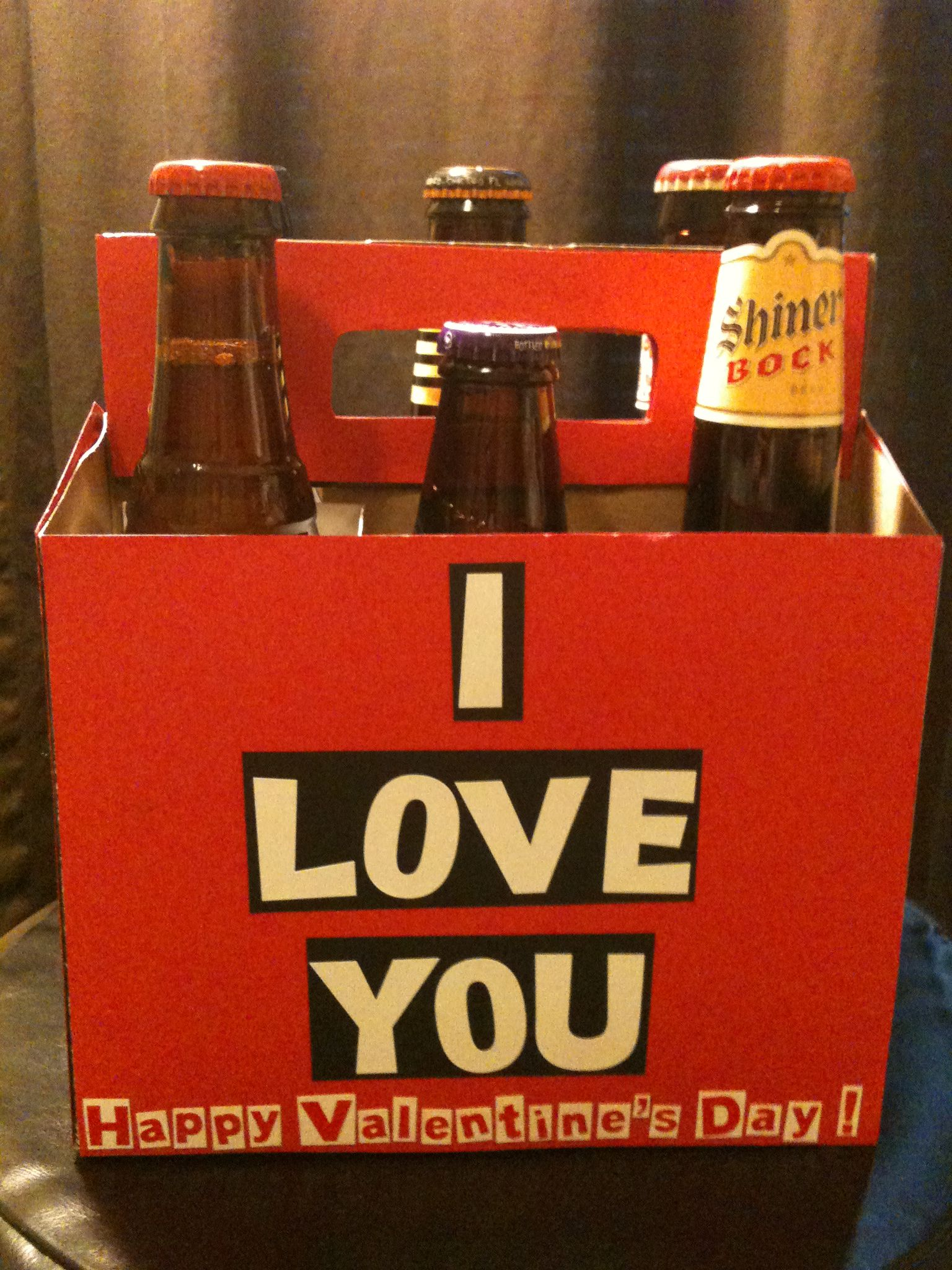 build his favorite 6 pack decorate the beer holder valentines day gift - Manly Valentine Gifts