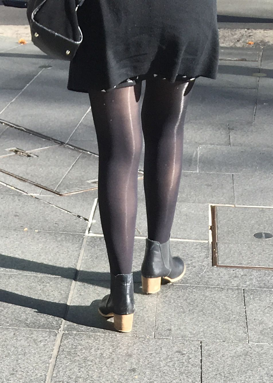87e05b4d03 Beautiful Pins — Amazing shiny pantyhose. Business woman no doubt ...