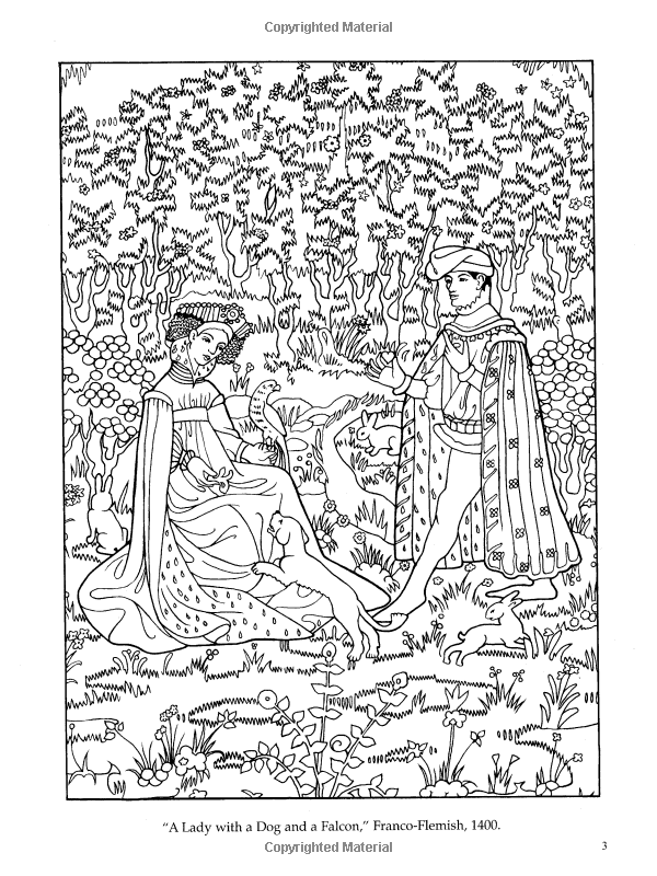 medieval feast coloring pages - photo#14