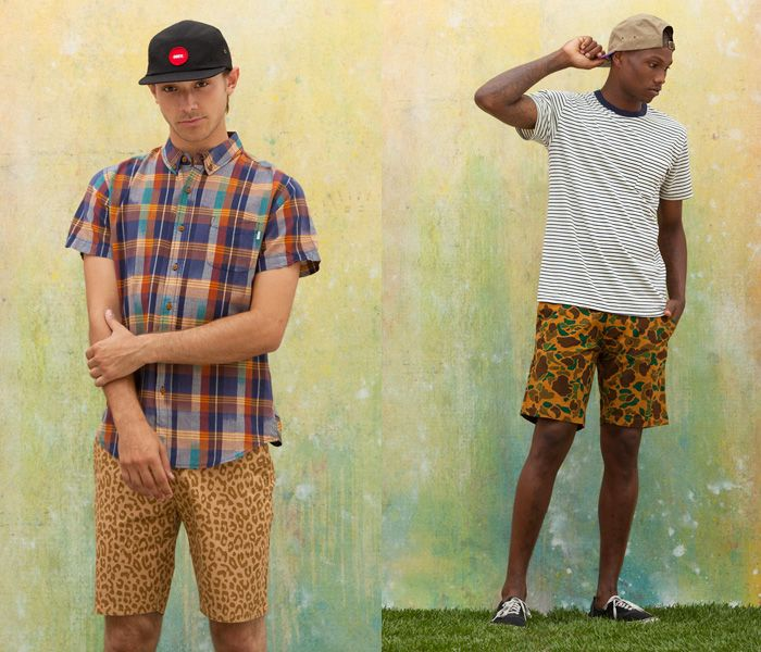ab3cec96d41d (3a) Desert Chino Shorts Safari Leopard Print Graphic - (3b) Tracks Shorts  Camouflage Pattern - OBEY Clothing 2013 Summer Mens Lookbook