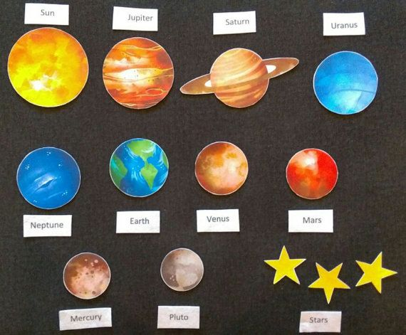 Solar system planets felt board set children space for Space flannel