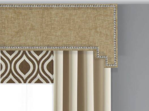 This Modern Cornice Board Pelmet Box With Nailhead Trim