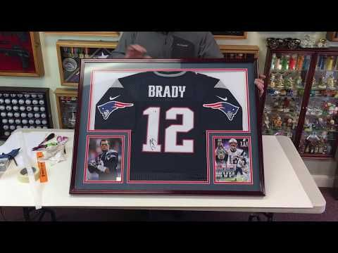 How to Professionally Frame a Football Jersey in a Sports Display Case -  YouTube c91ec8eb3