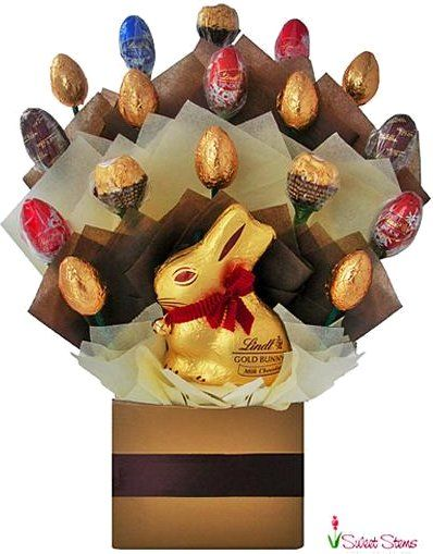 Lindt chocolate bouquet it melts in your mouth you crave for easter egg chocolate bouquet florist sydney australia delivers flowers and gifts to sydney area homes businesses churches hospitals schools anywhere negle Images