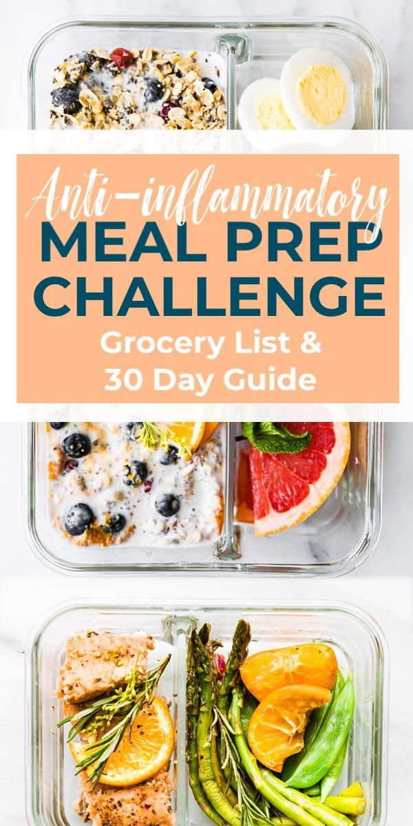 Photo of Anti-Inflammatory Diet Meal Prep Recipes Challenge | Cotter Crunch