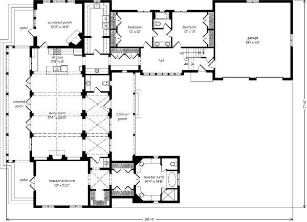 Lodge Gate Manor Biltmore Cottage House Plans House Plans Southern Living House Plans