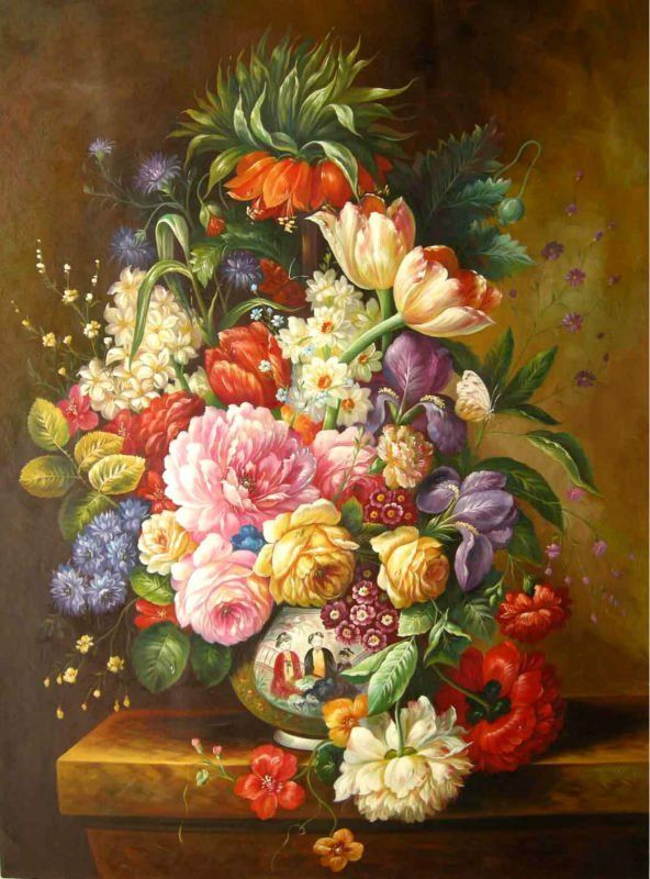 Famous Paintings Of Flowers Flower Oil Painting Hot View