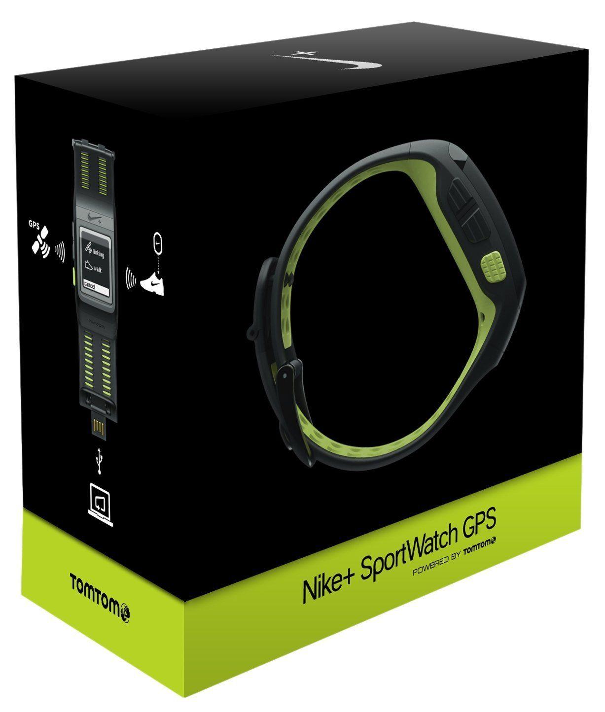 Amazon Com Nike Sportwatch Gps Powered By Tomtom Black Volt Gps Navigation Gps Gps Navigation Gps Units
