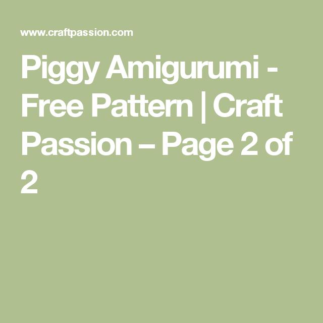 Piggy Amigurumi - Free Pattern | kostenlose Muster, Prinzessinnen ...