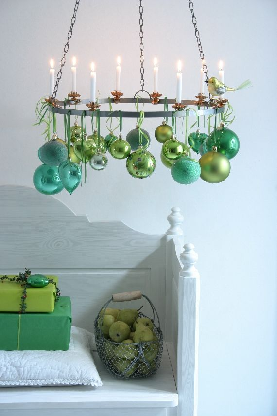 mixed baubles and candles, pinned by Ton van der Veer
