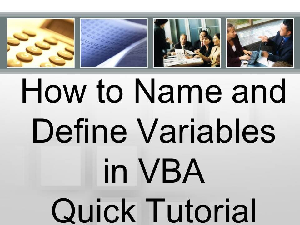 Variables are a critical part of #VBA and in virtually any kind of