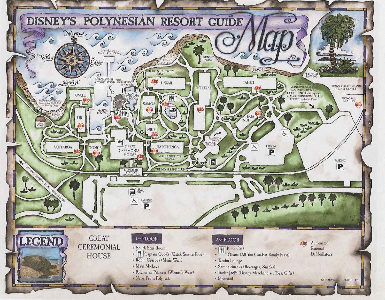 Polynesian Resort Map | Pinned by Mouse Fan Travel | #wdw #disney ...