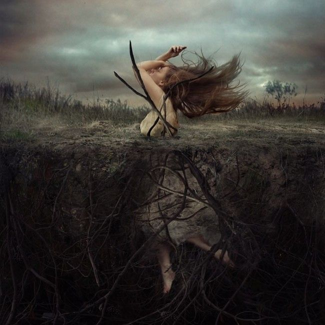 This one is about pulling yourself out of ruts and refusing to sink under. by ~ Brooke Shaden