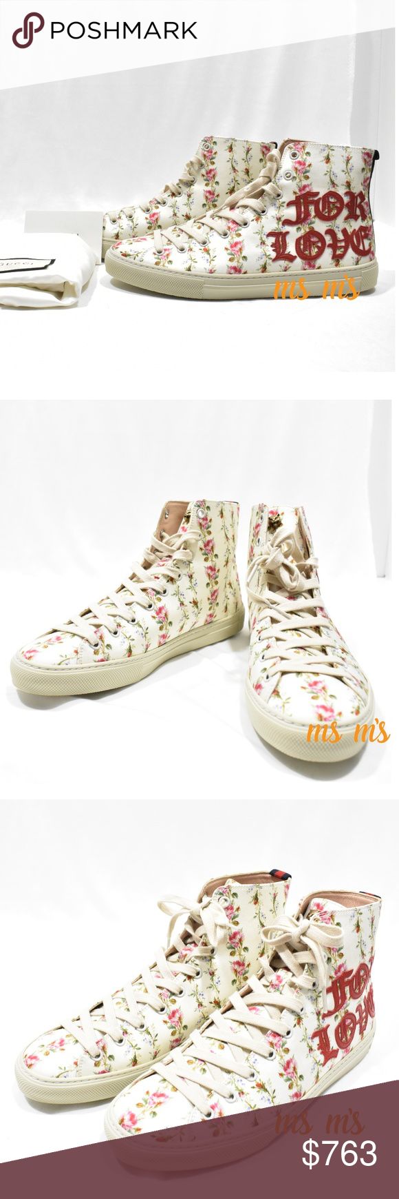 1567b72574d Spotted while shopping on Poshmark  New GUCCI Blind for Love Floral High  Top Sneakers!
