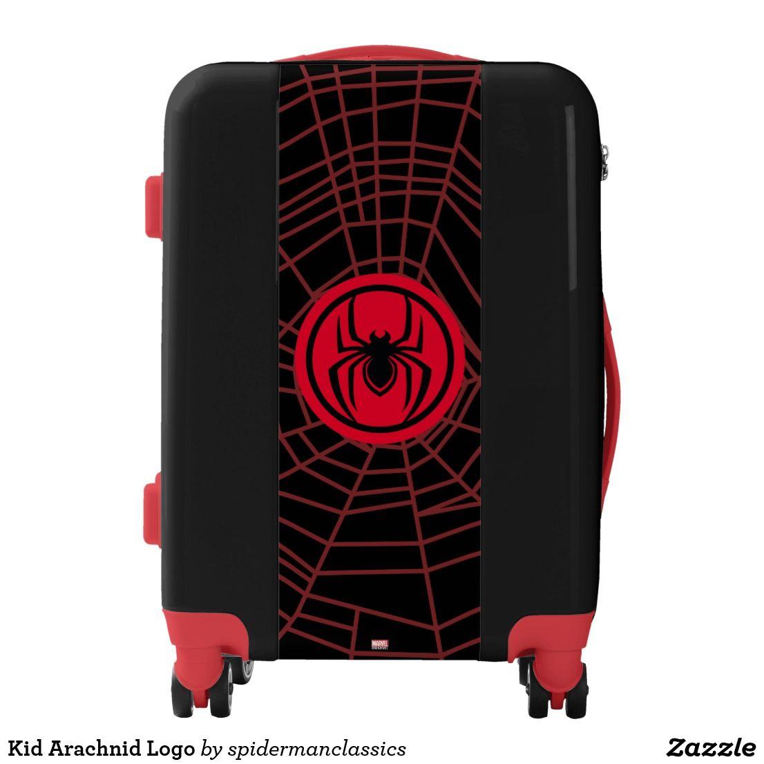 Kid Arachnid Logo Luggage Zazzle Com Luggage Carry On Luggage Tsa Luggage Lock