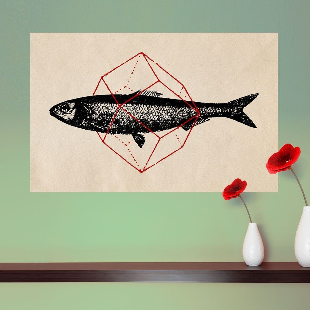 Geometry Fish Wall Sticker Decal by Florent Bodart | Products ...