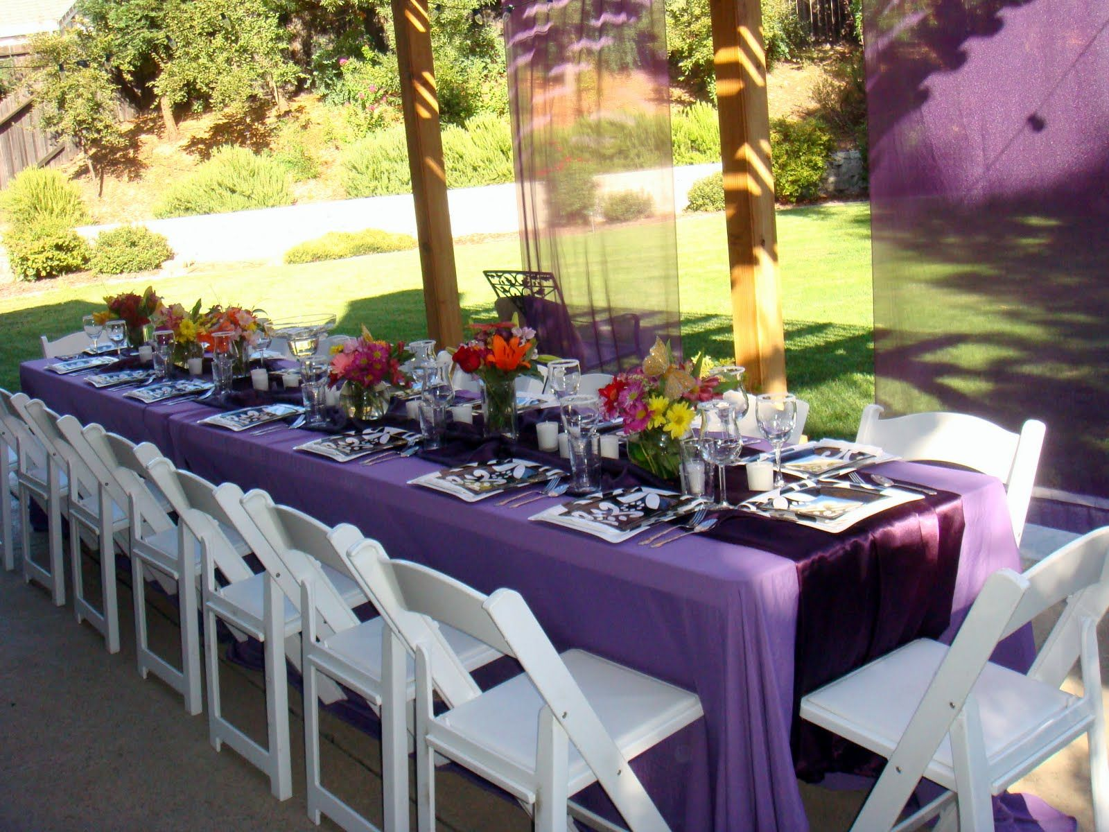 ideas about outdoor graduation parties on, Backyard Ideas