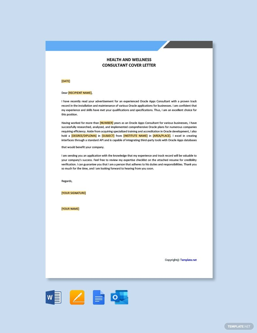 Free oracle apps consultant cover letter word apple