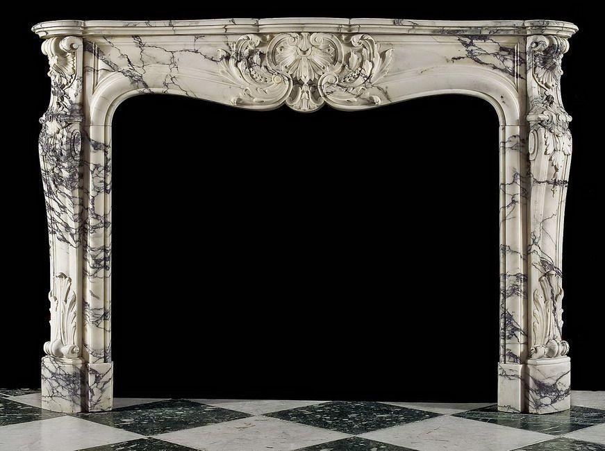 Antique Marble Fireplace Mantel H O M E Pinterest Marbles