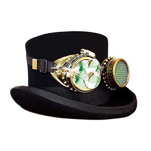 Julitech Steampunk Costume Vintage Copper Top Hat 5a9c2f4a279d