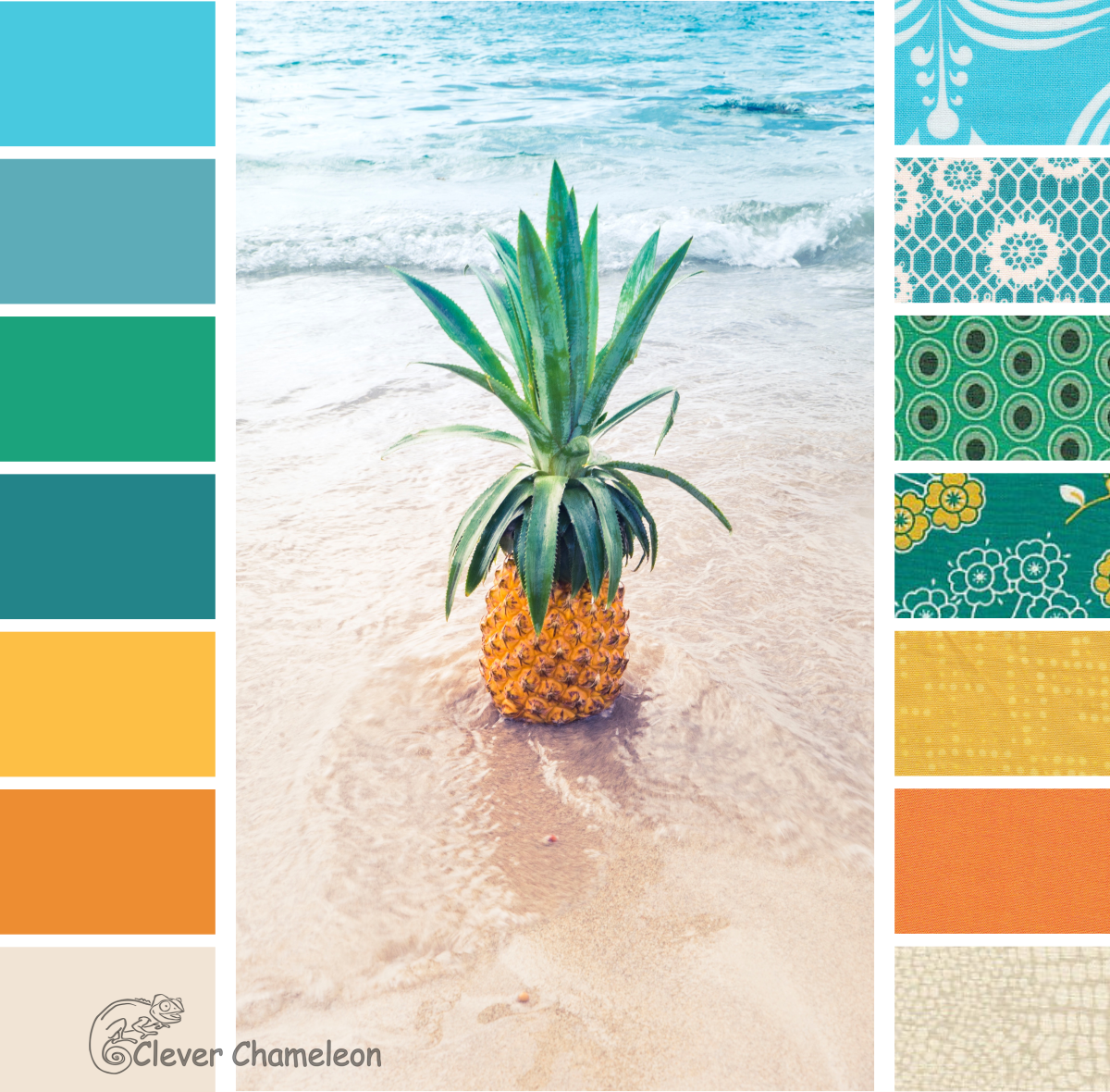 Tropical Beach Color Palette: Colour Inspiration Tuesday: Digging For Pineapples