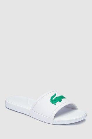 Lacoste White Logo Sliders *SAME DAY DISPATCH*